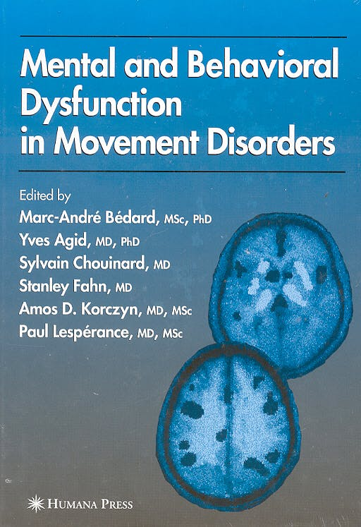 Portada del libro 9781588291196 Mental and Behavioral Dysfunction in Movement Disorders
