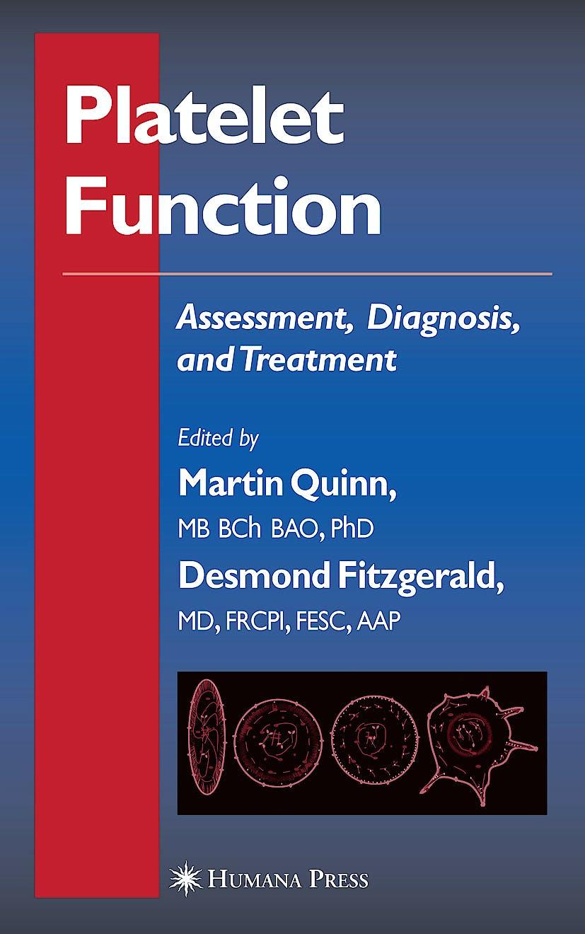 Portada del libro 9781588292445 Platelet Function: Assessment, Diagnosis and Treatment