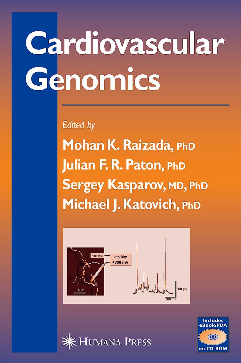 Portada del libro 9781588294005 Cardiovascular Genomics (Includes E-Book/pda on Cd-Rom)
