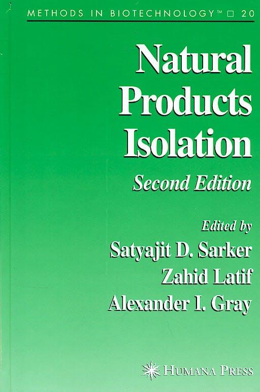 Portada del libro 9781588294470 Natural Products Isolation