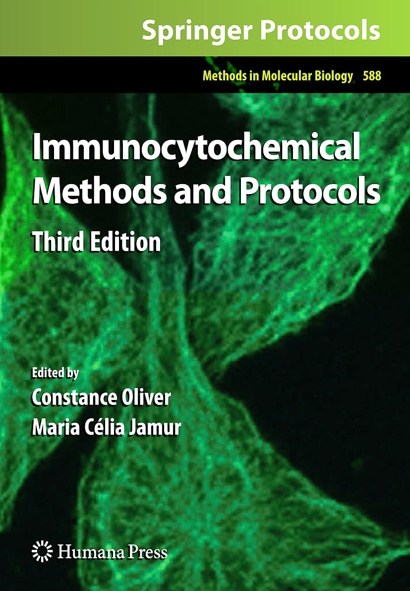 Portada del libro 9781588294630 Immunocytochemical Methods and Protocols