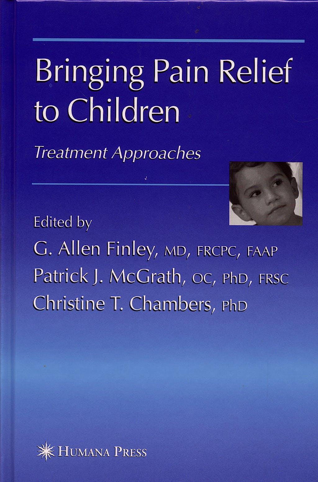 Portada del libro 9781588296283 Bringing Pain Relief to Children. Treatment Approaches