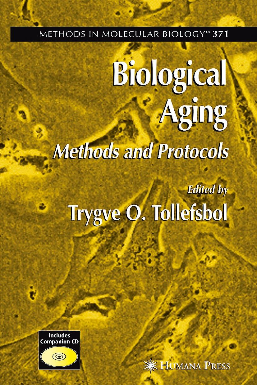 Portada del libro 9781588296580 Biological Aging. Methods and Protocols + Cd