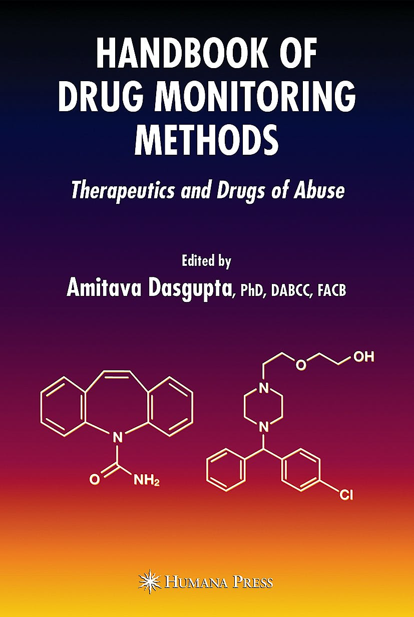Portada del libro 9781588297808 Handbook of Drug Monitoring Methods