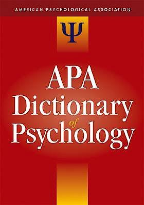 Portada del libro 9781591473800 The Apa Dictionary of Psychology