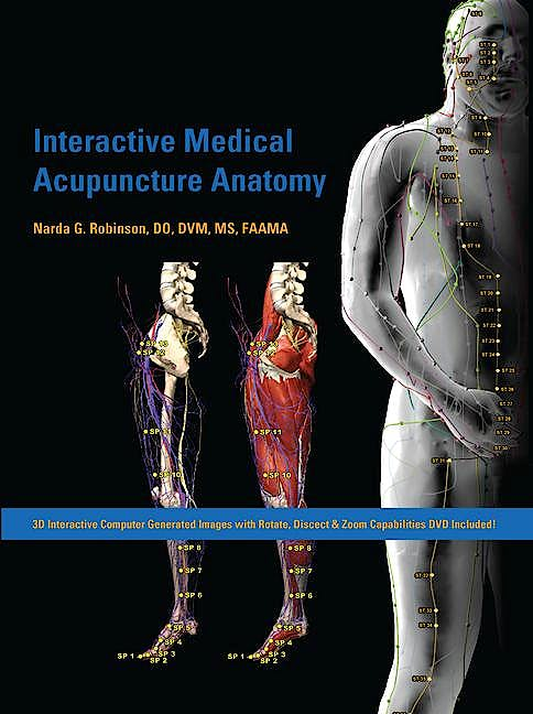 Portada del libro 9781591610205 Interactive Medical Acupuncture Anatomy (Book + DVD)