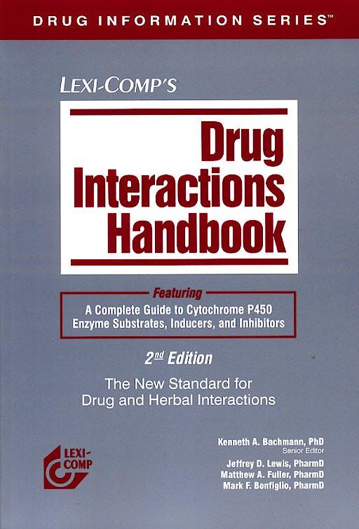 Portada del libro 9781591950899 Drug Interactions Handbook