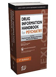 Portada del libro 9781591952534 Drug Information Handbook for Psychiatry