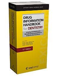 Portada del libro 9781591952961 Drug Information Handbook for Dentistry