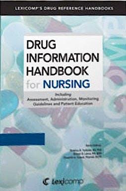 Portada del libro 9781591953104 Drug Information Handbook for Nursing