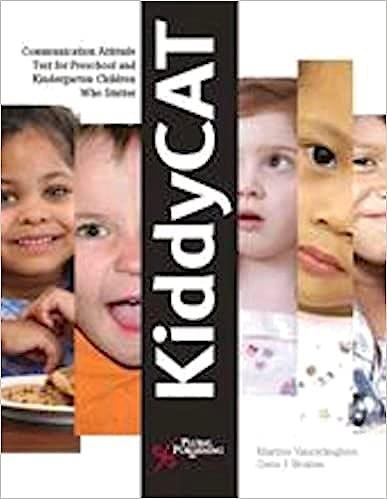 Portada del libro 9781597561242 Kiddycat Reorder Set. Communication Attitude Test for Preschool and Kindergarten Children Who Stutter