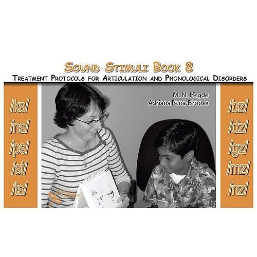 Portada del libro 9781597561358 Sound Stimuli for /Ks/ /Ns/ /Ps/ /St/ /Ts/ /Bz/ /Dz/ /Gz/ /Mz/ /Nz/. Book 8 for Treatment Protocols for Articulation and Phonological Disorders