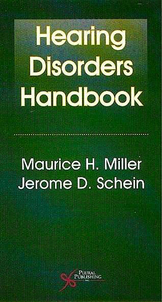 Portada del libro 9781597562829 Hearing Disorders Handbook