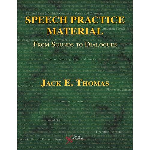 Portada del libro 9781597562874 Speech Practice Material. from Sounds to Dialogues