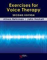 Portada del libro 9781597565301 Exercises for Voice Therapy + Cd Audio