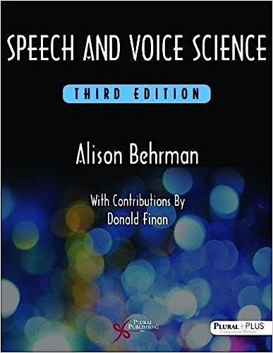 Portada del libro 9781597569354 Speech and Voice Science