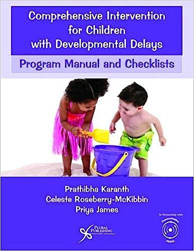 Portada del libro 9781597569712 Comprehensive Intervention for Children with Developmental Delays: Program Manual and Checklists