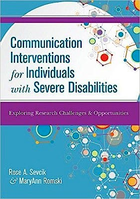 Portada del libro 9781598573633 Communication Interventions for Individuals with Severe Disabilities