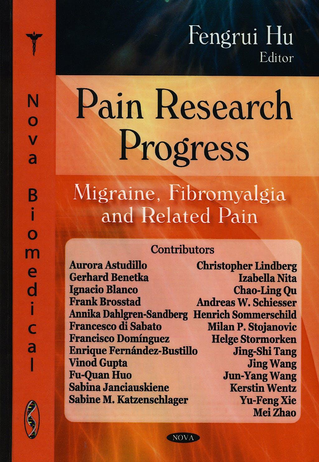 Portada del libro 9781600216794 Pain Research Progress. Migraine, Fibromyalgia and Related Pain