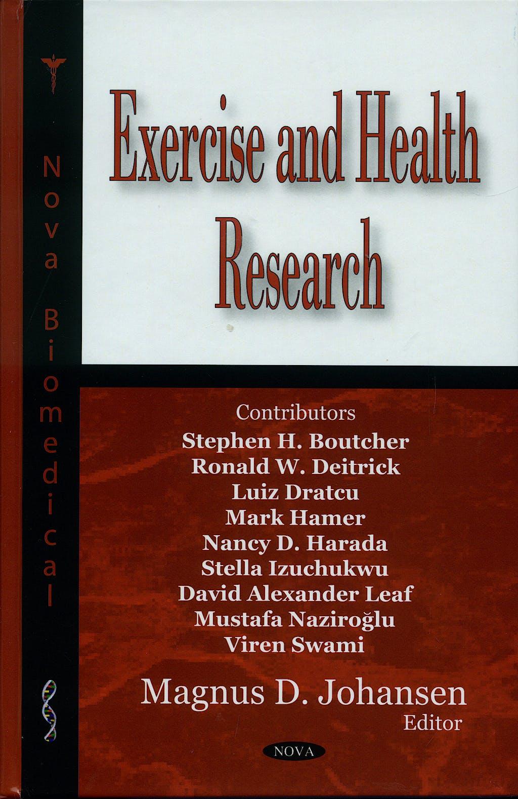 Portada del libro 9781600219856 Exercise and Health Research
