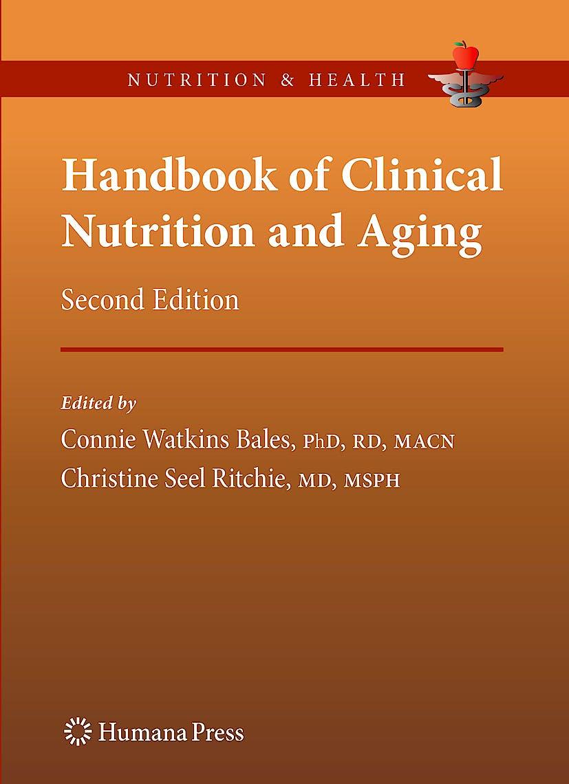 Portada del libro 9781603273848 Handbook of Clinical Nutrition and Aging