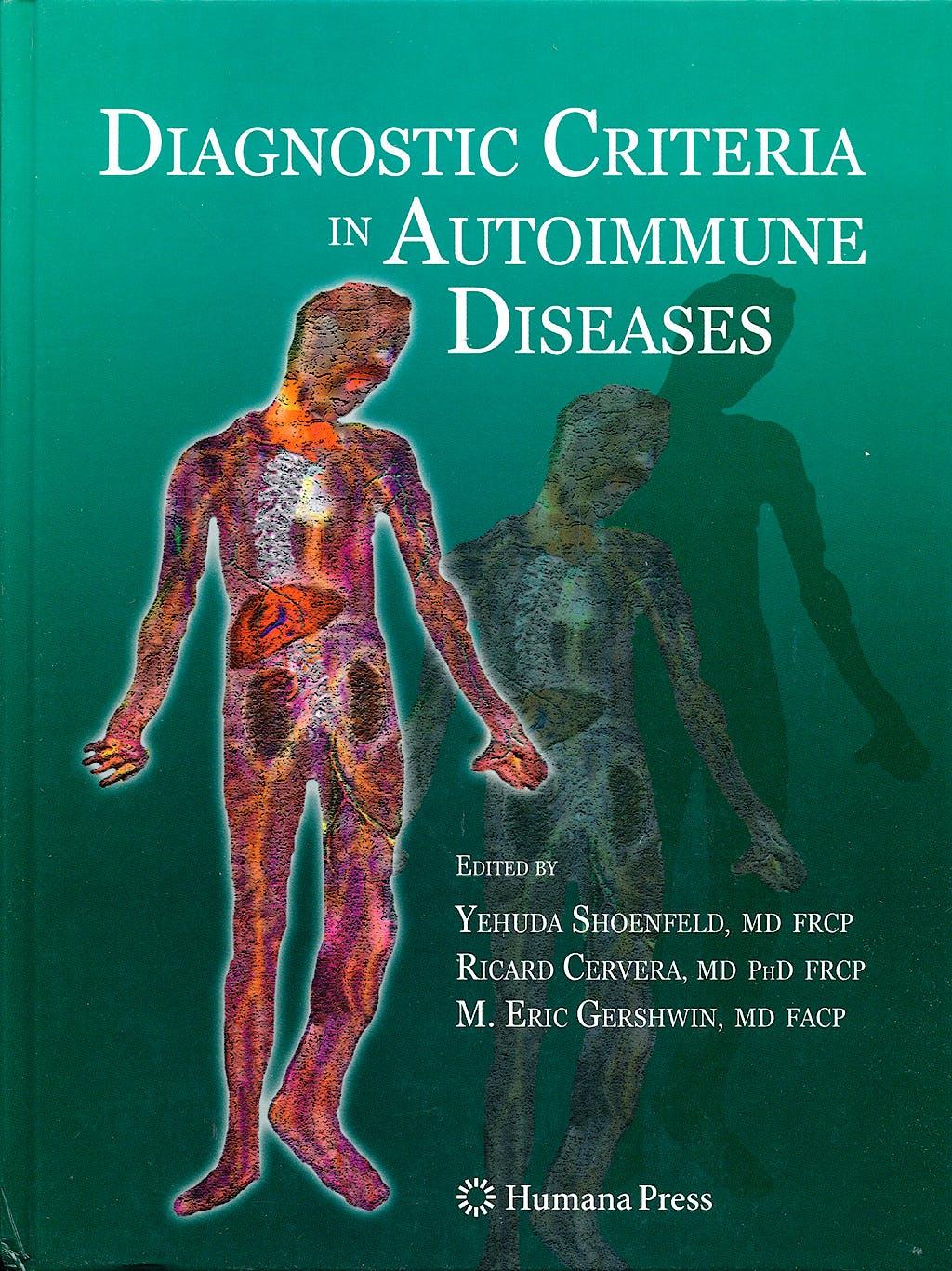 Portada del libro 9781603274272 Diagnostic Criteria in Autoimmune Diseases