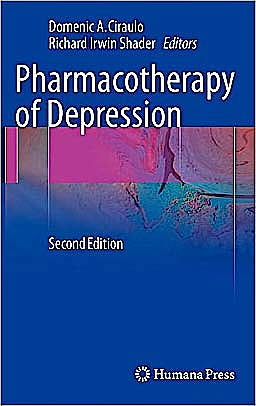 Portada del libro 9781603274340 Pharmacotherapy of Depression + Cd-Rom