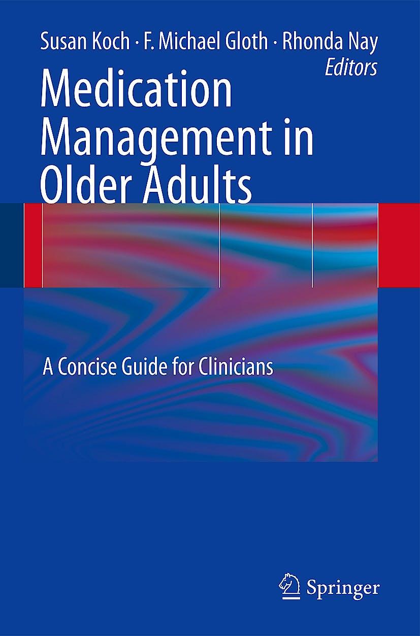 Portada del libro 9781603274562 Medication Management in Older Adults