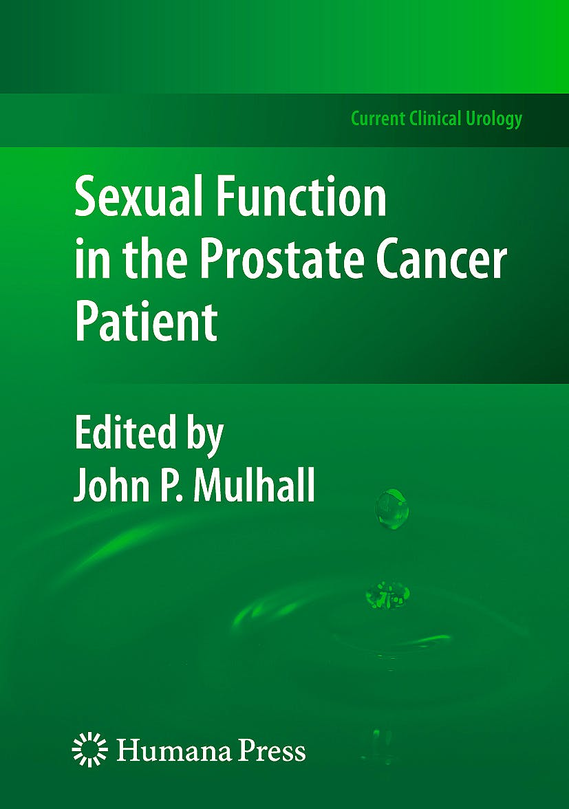 Portada del libro 9781603275545 Sexual Function in the Prostate Cancer Patient