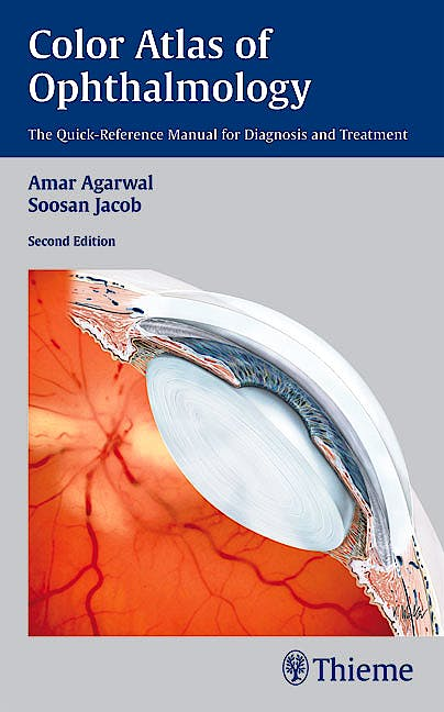 Portada del libro 9781604062113 Color Atlas of Ophthalmology. the Quick-Reference Manual for Diagnosis and Treatment
