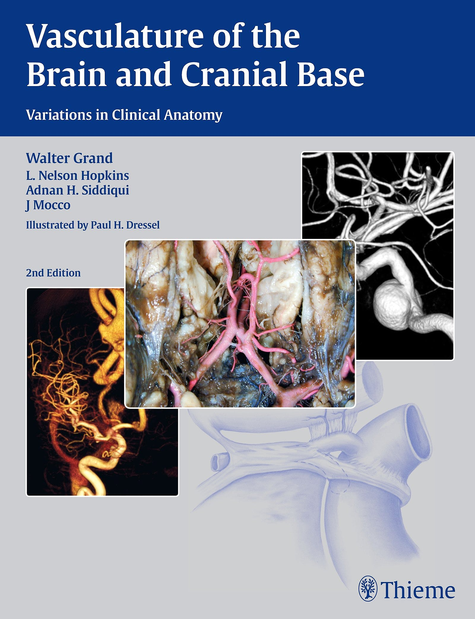 Portada del libro 9781604068856 Vasculature of the Brain and Cranial Base. Variations in Clinical Anatomy