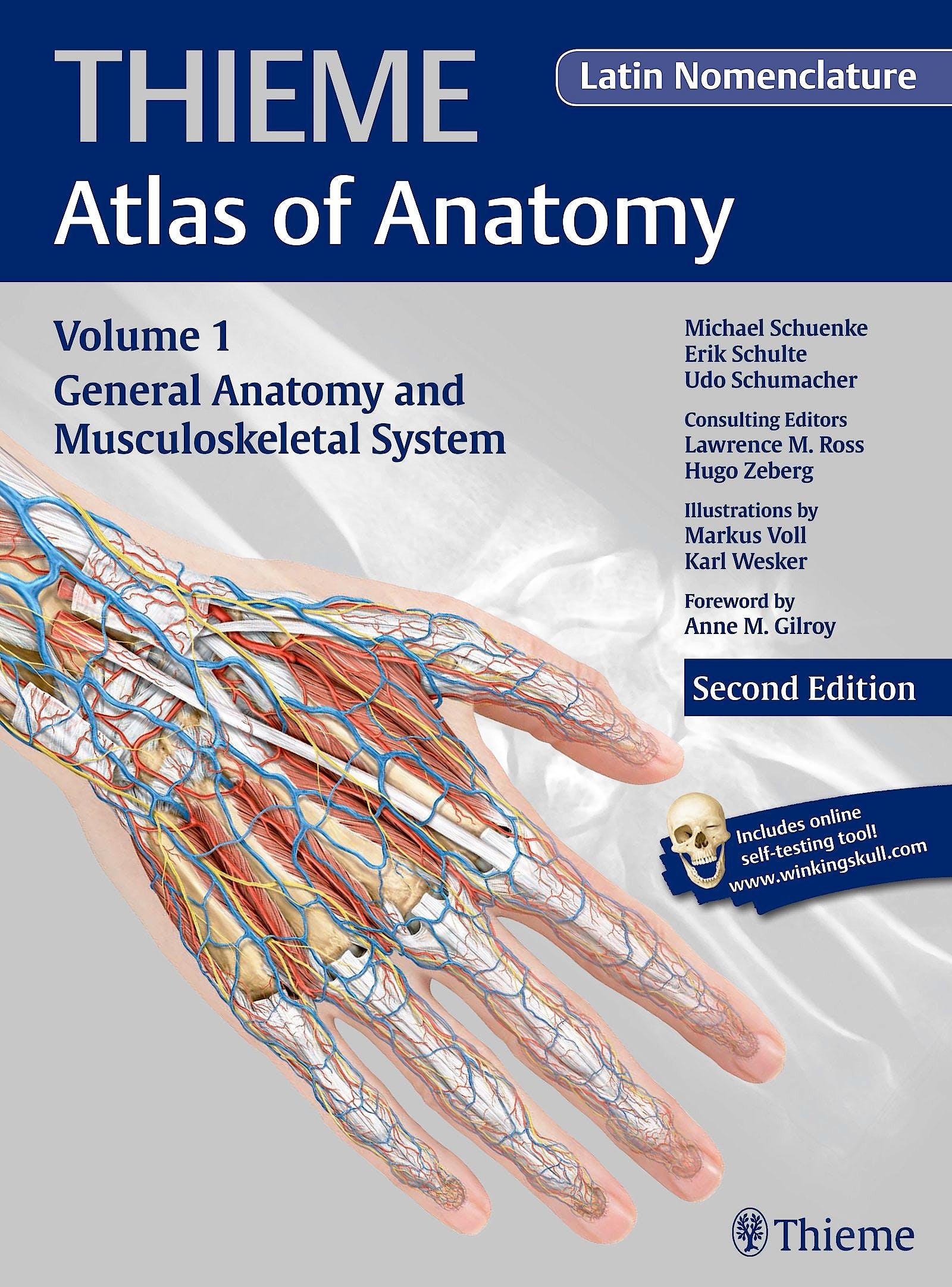 Portada del libro 9781604069235 Thieme Atlas of Anatomy, Vol. 1: General Anatomy and Musculoskeletal System (Latin Nomenclature)