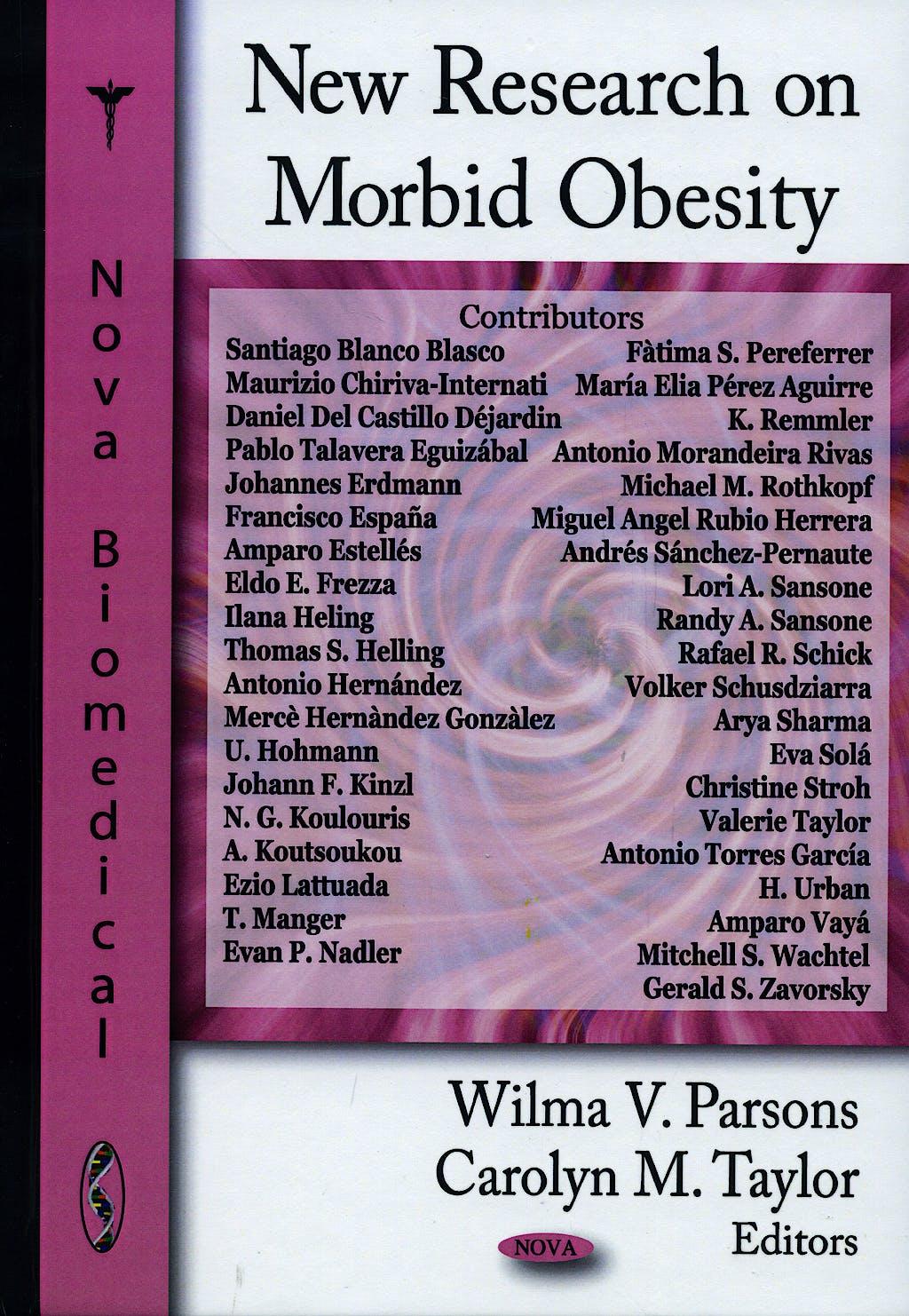 Portada del libro 9781604564402 New Research on Morbid Obesity