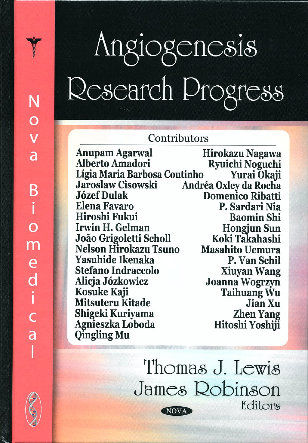 Portada del libro 9781604566208 Angiogenesis Research Progress