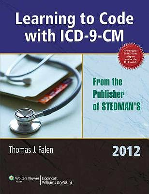 Portada del libro 9781605475356 Learning to Code with Icd-9-Cm 2012