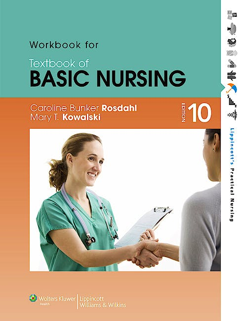 Portada del libro 9781605477732 Workbook for Textbook of Basic Nursing