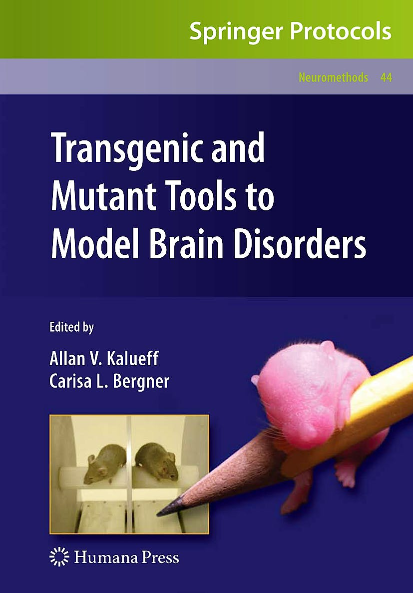 Portada del libro 9781607614739 Transgenic and Mutant Tools to Model Brain Disorders
