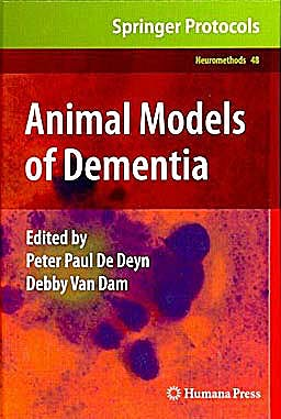 Portada del libro 9781607618973 Animal Models of Dementia (Neuromethods, Vol. 48)