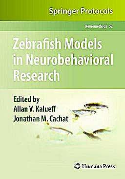 Portada del libro 9781607619215 Zebrafish Models in Neurobehavioral Research (Neuromethods, Vol. 52)