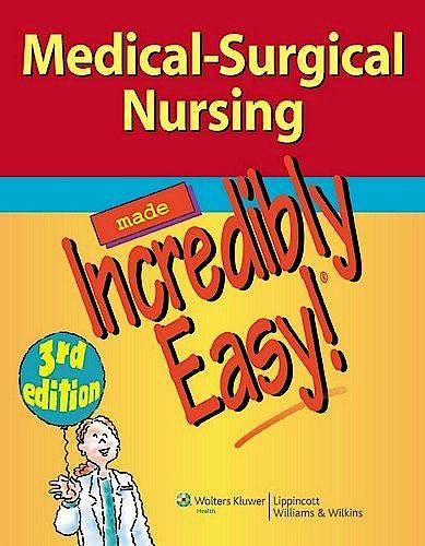 Portada del libro 9781609136482 Medical Surgical Nursing Made Incredibly Easy!