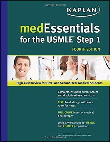 Portada del libro 9781609780265 Medessentials For The USMLE Step 1 (USMLE Prep)