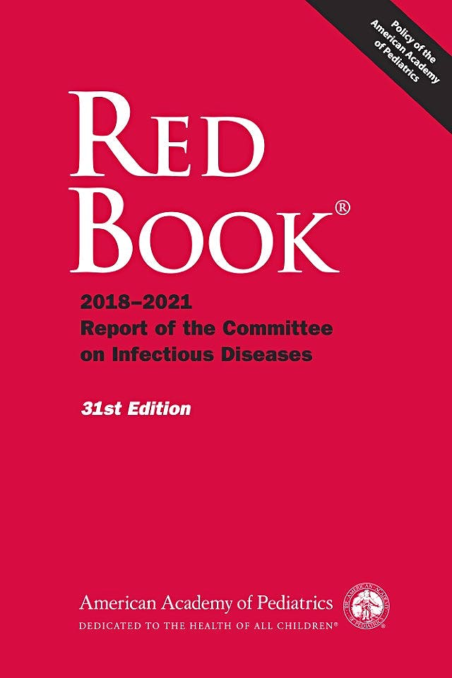 Portada del libro 9781610021463 RED BOOK 2018-2021 Report of the Committee on Infectious Diseases
