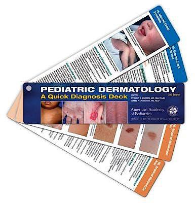 Portada del libro 9781610024600 Pediatric Dermatology. A Quick Diagnosis Deck (Cards)