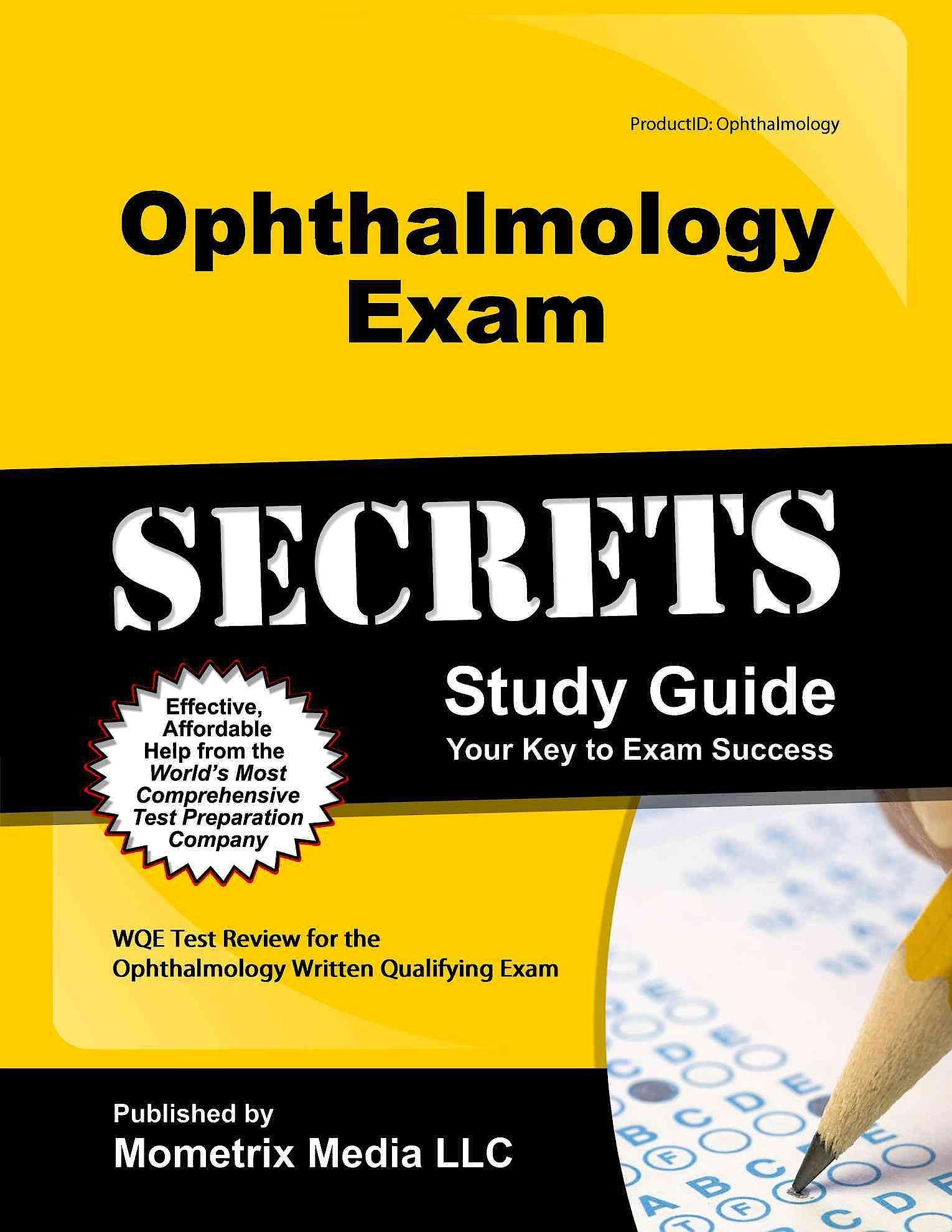 Portada del libro 9781610723978 Ophthalmology Exam. Secrets Study Guide