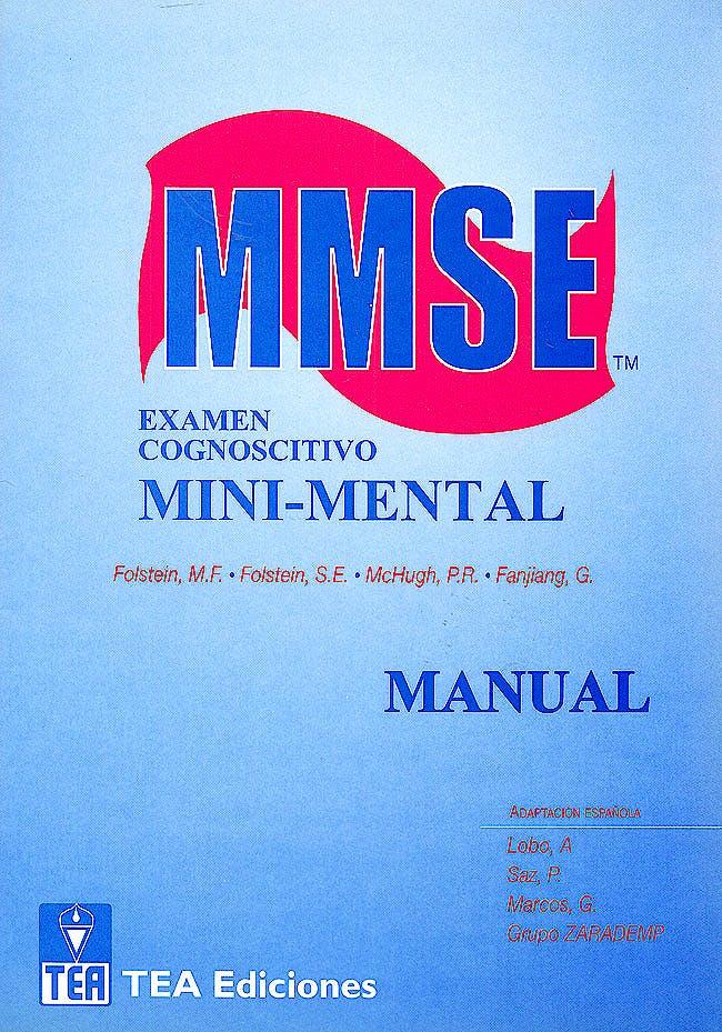 Portada del libro 9781612620053 Mmse. Examen Cognoscitivo Mini-Mental (Juego Completo Test + 25 Hojas de Anotacion)