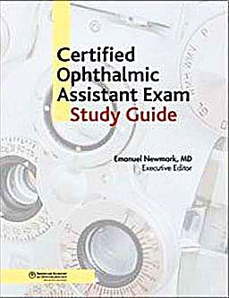Portada del libro 9781615251001 Certified Ophthalmic Assistant Study Guide