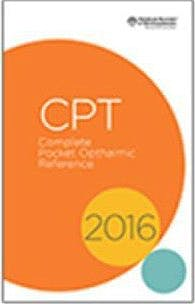 Portada del libro 9781615257881 CPT 2016. Complete Ophthalmic Reference