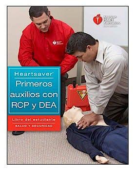 Portada del libro 9781616691998 Salvacorazones Primeros Auxilios con RCP y DEA. Libro para el Estudiante