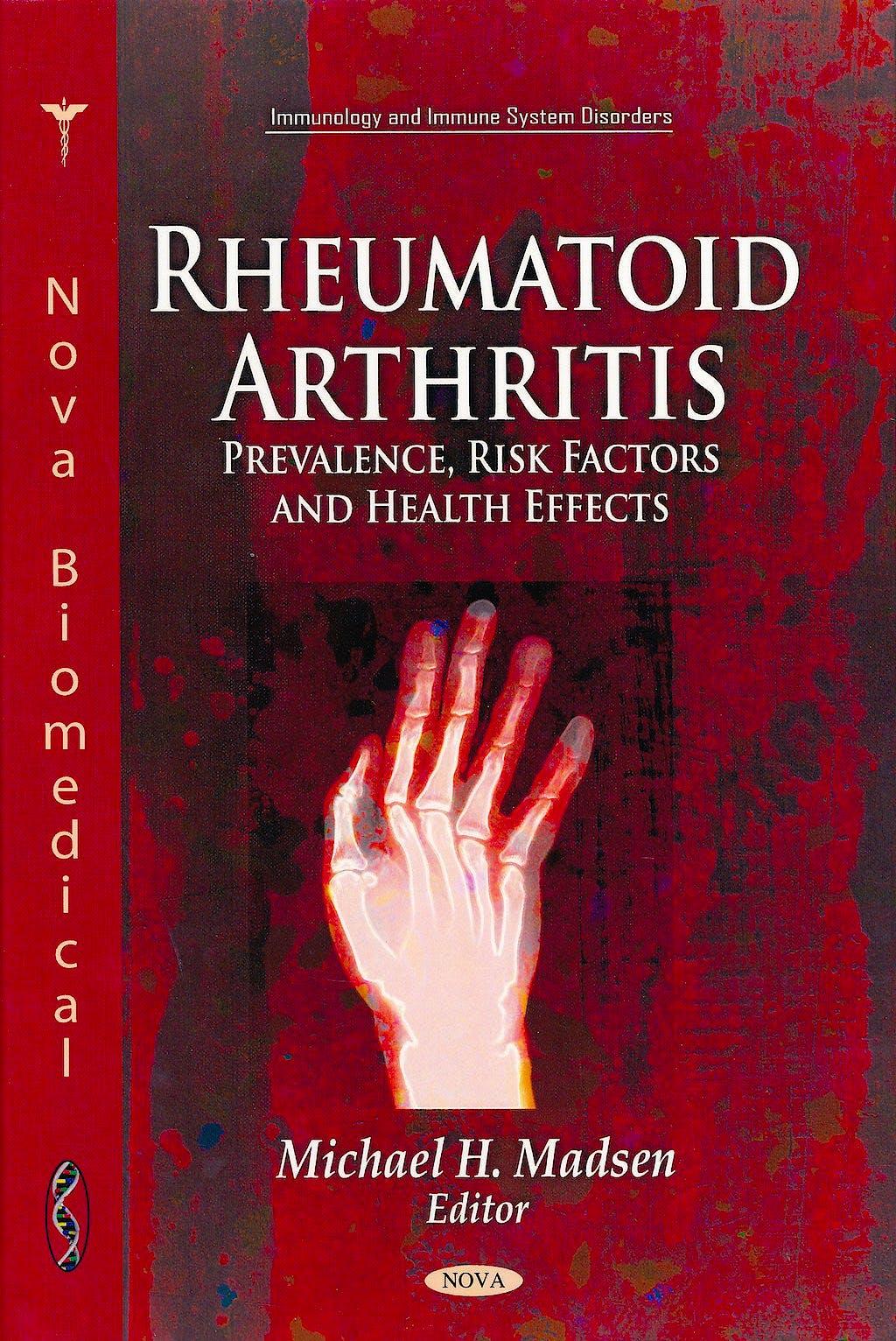 Portada del libro 9781617619311 Rheumatoid Arthritis. Prevalence, Risk Factors and Health Effects