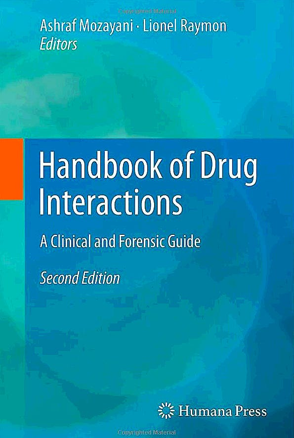 Portada del libro 9781617792212 Handbook of Drug Interactions. a Clinical and Forensic Guide